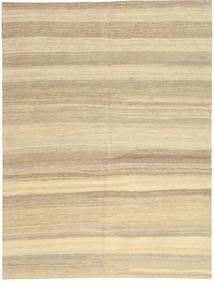 Kelim Modern Teppich  154X204 Echter Moderner Handgewebter Beige/Dunkel Beige (Wolle, Persien/Iran)