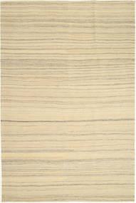 Kelim Modern Teppich  173X270 Echter Moderner Handgewebter Gelb/Beige (Wolle, Persien/Iran)