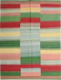Kelim Modern Teppich  159X213 Echter Moderner Handgewebter Olivgrün/Lindgrün (Wolle, Persien/Iran)