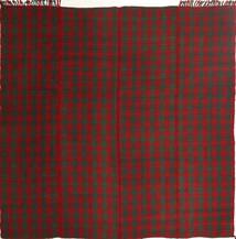 Kelim Modern Teppich  195X208 Echter Moderner Handgewebter Quadratisch Dunkelrot/Dunkelgrün (Wolle, Persien/Iran)