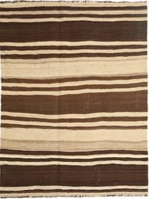 Kelim Modern Teppich  132X178 Echter Moderner Handgewebter Dunkelbraun/Beige (Wolle, Persien/Iran)