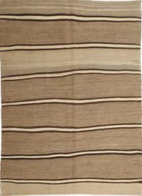 Kelim Modern Teppich  166X232 Echter Moderner Handgewebter Hellbraun/Dunkel Beige (Wolle, Persien/Iran)