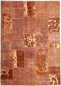 Patchwork Teppich  166X243 Echter Moderner Handgeknüpfter Rot/Dunkelrot (Wolle, Persien/Iran)