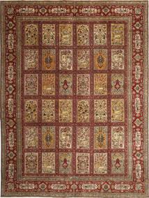 Täbriz Patina Signatur: Sarkhani Teppich  280X380 Echter Orientalischer Handgeknüpfter Dunkelbraun/Braun Großer (Wolle, Persien/Iran)