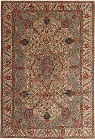 Täbriz Patina Teppich 217X323 Echter Orientalischer Handgeknüpfter Dunkelbraun/Hellbraun (Wolle, Persien/Iran)