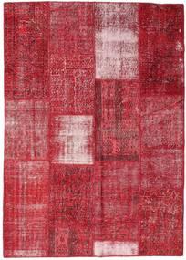 Patchwork Teppich  160X226 Echter Moderner Handgeknüpfter Rot/Rost/Rot (Wolle, Türkei)