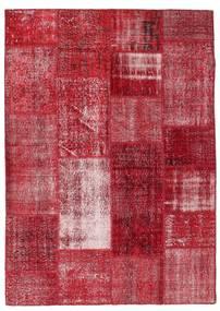 Patchwork Teppich  163X229 Echter Moderner Handgeknüpfter Rot/Dunkelrot (Wolle, Türkei)