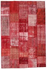 Patchwork Teppich  201X299 Echter Moderner Handgeknüpfter Rot/Rosa (Wolle, Türkei)