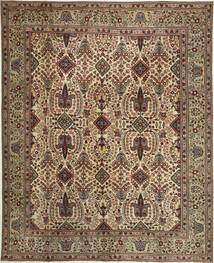 Täbriz Patina Teppich  305X377 Echter Orientalischer Handgeknüpfter Braun/Hellbraun Großer (Wolle, Persien/Iran)
