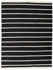 Dorri Stripe - Schwarz/Weiß Teppich  200X250 Echter Moderner Handgewebter Schwartz (Wolle, Indien)