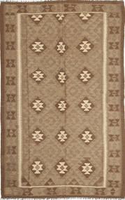 Kelim Maimane Teppich  154X251 Echter Orientalischer Handgewebter Braun/Hellbraun (Wolle, Afghanistan)
