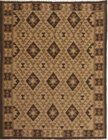 Kelim Maimane Teppich  156X201 Echter Orientalischer Handgewebter Braun/Beige/Hellbraun/Dunkelbraun (Wolle, Afghanistan)