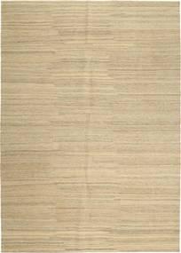 Kelim Modern Teppich  207X291 Echter Moderner Handgewebter Dunkel Beige/Beige (Wolle, Persien/Iran)