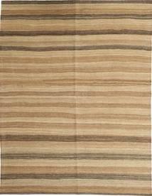 Kelim Modern Teppich  157X208 Echter Moderner Handgewebter Hellbraun/Dunkel Beige (Wolle, Persien/Iran)