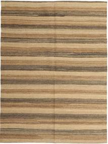 Kelim Modern Teppich  149X200 Echter Moderner Handgewebter Hellbraun/Dunkel Beige (Wolle, Persien/Iran)