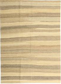 Kelim Modern Teppich  165X235 Echter Moderner Handgewebter Beige/Dunkel Beige (Wolle, Persien/Iran)