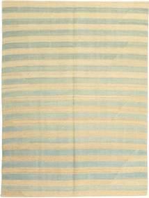 Kelim Modern Teppich  151X204 Echter Moderner Handgewebter Gelb/Dunkel Beige (Wolle, Persien/Iran)