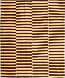 Kelim Modern Teppich  222X265 Echter Moderner Handgewebter Dunkelbraun/Dunkel Beige (Baumwolle, Persien/Iran)