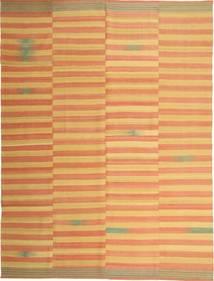 Kelim Modern Teppich  222X295 Echter Moderner Handgewebter Hellbraun/Dunkel Beige (Wolle, Persien/Iran)