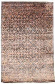 Damask Teppich  165X252 Echter Moderner Handgeknüpfter Hellgrau/Dunkelrot ( Indien)