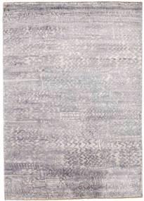Damask Teppich  175X246 Echter Moderner Handgeknüpfter Hellgrau/Beige ( Indien)