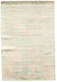 Damask Teppich  168X246 Echter Moderner Handgeknüpfter Beige/Weiß/Creme ( Indien)