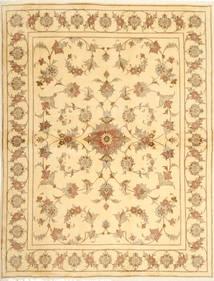 Yazd Teppich  190X253 Echter Orientalischer Handgeknüpfter Gelb/Beige (Wolle, Persien/Iran)