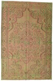 Colored Vintage Teppich  183X284 Echter Moderner Handgeknüpfter Hellbraun/Hell Grün (Wolle, Türkei)