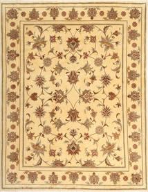 Yazd Teppich  194X249 Echter Orientalischer Handgeknüpfter Dunkel Beige/Gelb (Wolle, Persien/Iran)