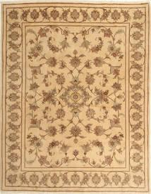 Yazd Teppich  193X245 Echter Orientalischer Handgeknüpfter Gelb/Hellbraun (Wolle, Persien/Iran)