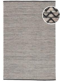 Chevron Waves - Dunkel Teppich  160X230 Echter Moderner Handgewebter Hellgrau/Dunkelgrau/Beige ( Indien)