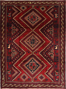 Shiraz Teppich 235X310 Echter Orientalischer Handgeknüpfter Dunkelrot/Dunkelbraun (Wolle, Persien/Iran)