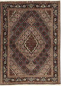 Täbriz 40 Raj Teppich 107X149 Echter Orientalischer Handgeknüpfter Dunkelrot/Dunkelbraun (Wolle/Seide, Persien/Iran)