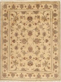 Yazd Teppich  196X250 Echter Orientalischer Handgeknüpfter Hellbraun/Gelb (Wolle, Persien/Iran)