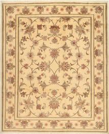 Yazd Teppich  200X245 Echter Orientalischer Handgeknüpfter Hellbraun/Gelb (Wolle, Persien/Iran)
