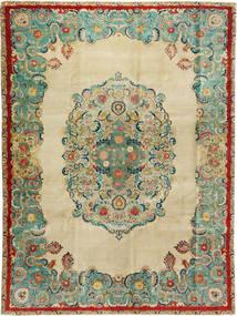 Täbriz Patina Teppich 300X400 Echter Orientalischer Handgeknüpfter Dunkel Beige/Lindgrün Großer (Wolle, Persien/Iran)