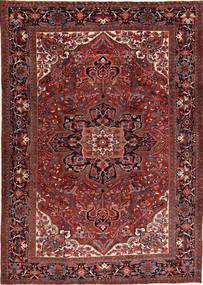 Heriz Teppich  266X372 Echter Orientalischer Handgeknüpfter Dunkelrot/Schwartz Großer (Wolle, Persien/Iran)