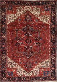 Heriz Teppich  260X372 Echter Orientalischer Handgeknüpfter Dunkelrot/Dunkelbraun Großer (Wolle, Persien/Iran)