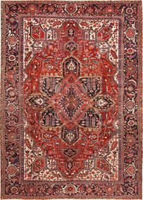 Heriz Teppich  288X403 Echter Orientalischer Handgeknüpfter Dunkelrot/Rost/Rot Großer (Wolle, Persien/Iran)