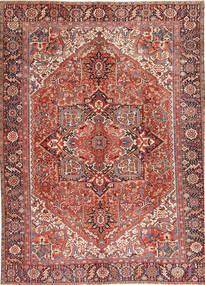 Heriz Teppich  296X408 Echter Orientalischer Handgeknüpfter Dunkelrot/Beige Großer (Wolle, Persien/Iran)
