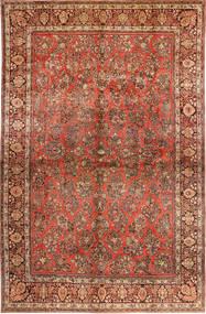 Sarough American Teppich  310X485 Echter Orientalischer Handgeknüpfter Dunkelbraun/Rost/Rot Großer (Wolle, Persien/Iran)