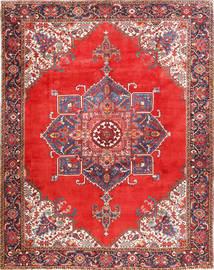 Heriz Teppich  300X385 Echter Orientalischer Handgeknüpfter Rost/Rot/Dunkelrot Großer (Wolle, Persien/Iran)