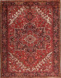 Heriz Teppich  293X380 Echter Orientalischer Handgeknüpfter Dunkelrot/Dunkelbraun Großer (Wolle, Persien/Iran)