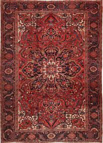 Heriz Teppich  262X358 Echter Orientalischer Handgeknüpfter Dunkelrot/Dunkelbraun Großer (Wolle, Persien/Iran)