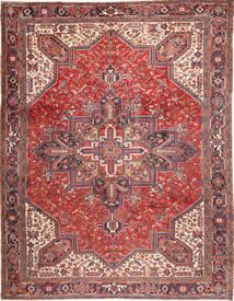 Heriz Teppich  293X380 Echter Orientalischer Handgeknüpfter Dunkelrot/Beige Großer (Wolle, Persien/Iran)