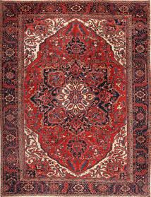 Heriz Teppich  292X380 Echter Orientalischer Handgeknüpfter Dunkelrot/Schwartz Großer (Wolle, Persien/Iran)