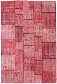 Patchwork Teppich  206X305 Echter Moderner Handgeknüpfter Rosa/Rost/Rot (Wolle, Türkei)