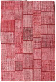 Patchwork Teppich 205X305 Echter Moderner Handgeknüpfter Rosa/Rost/Rot (Wolle, Türkei)