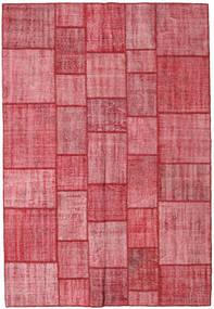 Patchwork Teppich 205X300 Echter Moderner Handgeknüpfter Rost/Rot/Rosa (Wolle, Türkei)