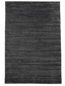 Bambus Seide Loom - Charcoal Teppich  200X300 Moderner Schwartz/Lila/Dunkelgrau ( Indien)